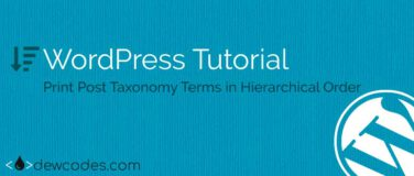 wordpress-Taxonomy-Hierarchical