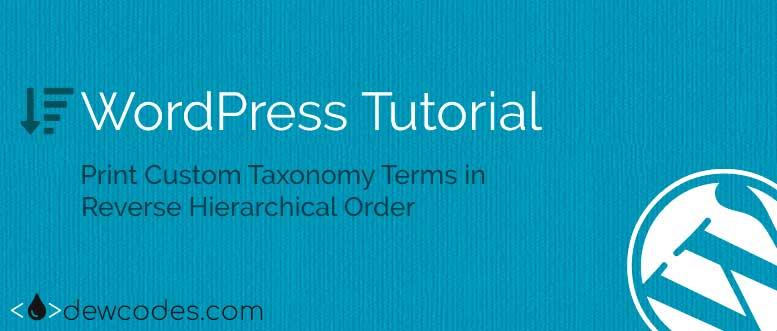wordpress-Taxonomy-Reverse-Hierarchical
